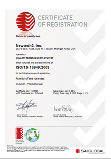 ISO TS Certificate